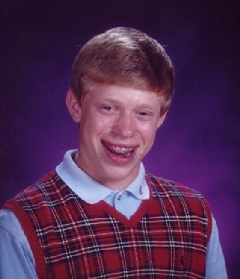 <h2>Bad Luck Brian</h2>