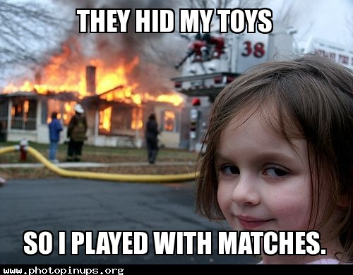 They hid my toys